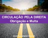 Circulação pela Direita - Obrigação e Multa