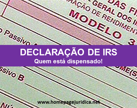 declaracao irs dispensa