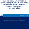 Regime extraordinário de regularização e de alteração e ou ampliação de diversos estabelecimentos e explorações - Decreto-Lei n.º 165/2014, de 5 de novembro