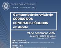 O anteprojecto de revisão do Código dos Contratos Públicos em debate