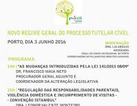 """Seminário - """"Novo Regime Geral do Processo Tutelar Cível"""""""