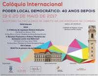 Colóquio Internacional - Poder Local Democrático: 40 Anos Depois