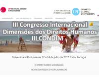 III CONDIM - O direito humano à segurança: Novos conteúdos e políticas públicas