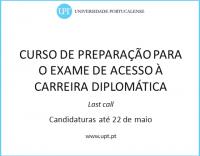 Curso de Preparação para Exame de Acesso à Carreira Diplomática