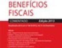 Estatuto dos benefícios Fiscais - comentado - 2013