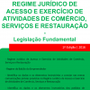 Regime Jurídico de Acesso e Exercício de Atividades de Comércio, Serviços e Restauração - Legislação Fundamental