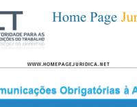 Comunicações Obrigatórias à ACT
